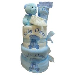 Nappy cake 3 tier personalised