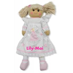 Personalised large Angel Rag doll 60cm with a name