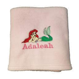Personalised Little Mermaid fleece blanket