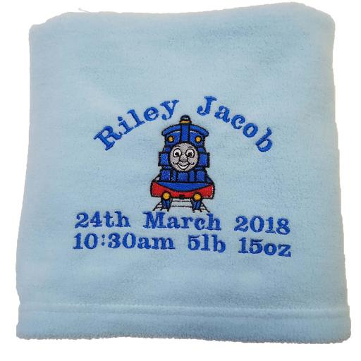 Personalised Thomas the tank blanket