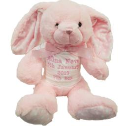 Personalised pink rabbit with t shirt