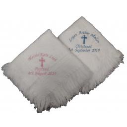 Christening shawl with large cross