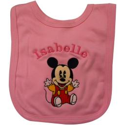 Personalised Mickey Mouse bib