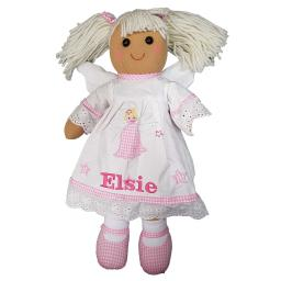 Personalised Angel Rag doll 40cm with a name