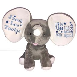Personalised dumble grey elephant