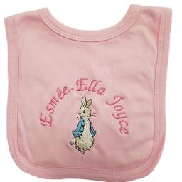 Personalised Peter Rabbit bib