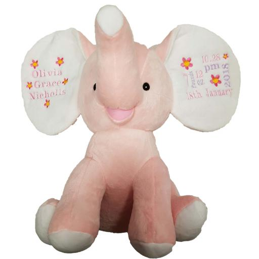 Personalised dumble pink elephant