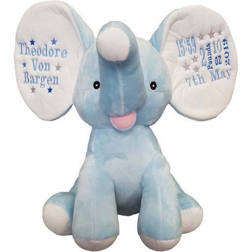 Personalised dumble blue elephant