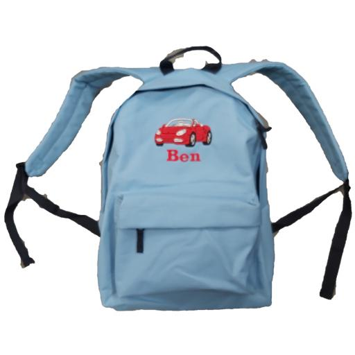 Personalised sports car Backpack