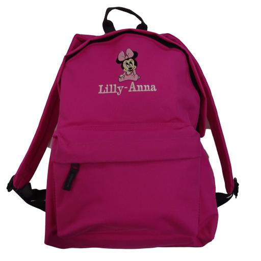 Personalised Backpack with Minnie Mouse and a name