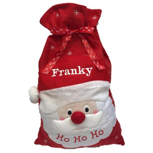 Personalised santa christmas sack
